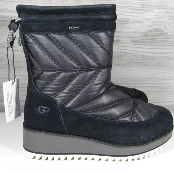 43a1684093 Ugg Australia Beck Black Waterproof Quilted Boots
